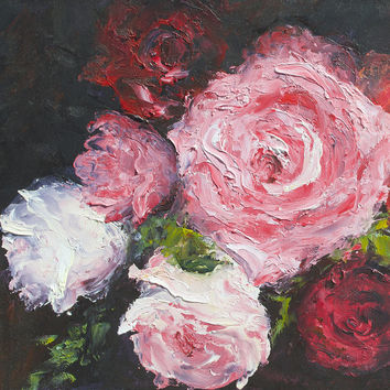 Roses Oil Painting by Jan Matson