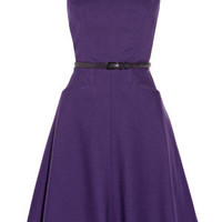 Oasis Formal | Mid Purple Volume Fit and Flare Dress | Womens Fashion Clothing | Oasis Stores UK