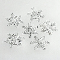 Small Clear Acrylic Snowflake Ornament with Gift Box