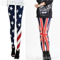 iOffer: US/UK Flag Print Rock Punk Funky Leggings Tights Pants for sale