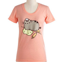 Pusheen the Limit Tee | Mod Retro Vintage T-Shirts | ModCloth.com