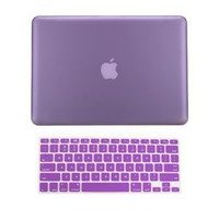 Amazon.com: TopCase 2 in 1 Rubberized PURPLE Hard Case Cover and Keyboard Cover for Macbook Pro 13-inch (A1278/with or without Thunderbolt) with TopCase Mouse Pad: Computers & Accessories