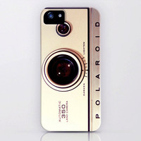 iPhone 5 Case, iPhone 5 cover, iPhone case, vintage Polaroid camera, case for iPhone 5, Polaroid, bomobob, cream, iPhone accessory