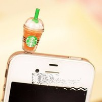 Amazon.com: Cyprustech - Hot New Starbucks Coffee Style 3.5mm Headphone Anti-dust Plug Cap for Iphone 4 4S Samsung Galaxy HTC LG - Brown Color: Cell Phones &amp; Accessories
