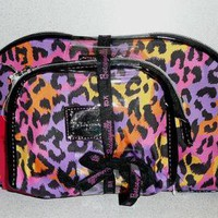NWT Betsey Johnson Betseyville 2PC G.I BETSEY MULTI DOME COSMETIC Bag Set *Cute