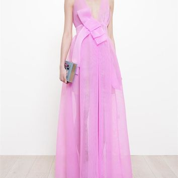 Neoprene Mesh Maxi Dress - A.W.A.K.E.