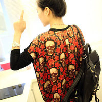 Red Rose Skull Blouse