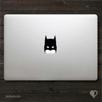 Batman inspired mask Macbook Decal