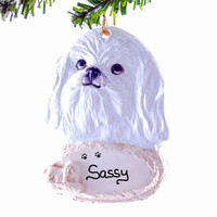 Shih Tzu Christmas ornament - personalized shih tzu ornament - pet lovers Christmas ornament