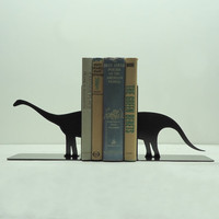 Brontosaurus Metal Art Bookends - Free USA Shipping