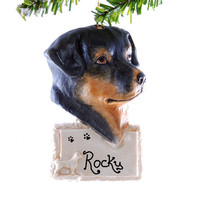 Rottweiler Ornament - personalized Christmas ornament - dog Christmas ornament
