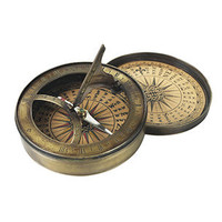 18th Century Sundial and Compass | Authentic Models | Rain Collection