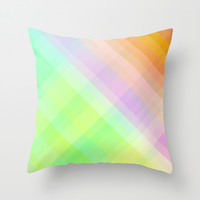 Square - checked, colors pixels Throw Pillow by Jcks