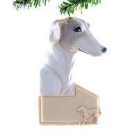 Greyhound ornament - greyhound personalized Christmas ornament with your dogs name