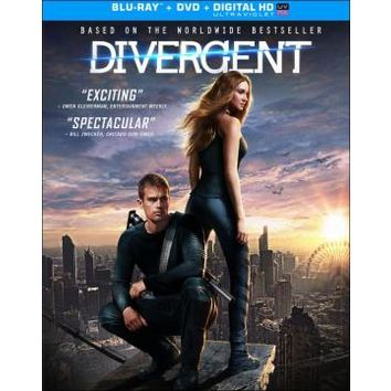 Divergent (Blu-ray Disc) (2 Disc) (Ultraviolet Digital Copy) (Enhanced Widescreen for 16x9 TV) (Eng/Spa) 2014