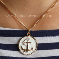 anchor necklace, sailor anchor necklace, Nautical Anchor