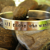 Not all those who wander are lost - Lord of the Rings bracelet