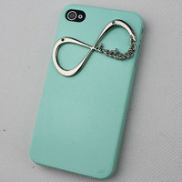 "light Green Hard Case Cover With One Direction ""Directioner"" Infinity for Apple iPhone 4 Case, iPhone 4 Cover,iPhone 4s Case, iPhone 4gs"