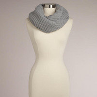 Gray Ribbed Infinity Scarf | World Market