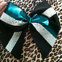 "Size Matters4""  Tick-Tock Triple Layer Cheer Bow"