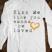 Kiss Me-Unisex White T-Shirt