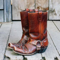 Vintage Rugged Motorcycle Boots, Sweet Vintage Cowboy Boots