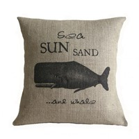Sea Sun Sand And Whale Nautical Bur.. on Luulla