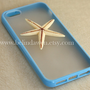 Iphone 5 Case, starfish iphone 5 case, whtie starfish, blue iphone 5 Case, iphone case
