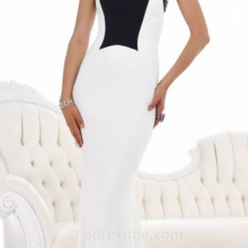 Ivory And Black Evening Dresses By Morrell Maxie