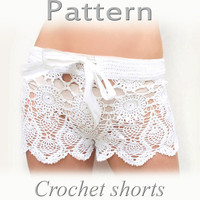 PATTERN Crochet beach shorts in cotton  PDF