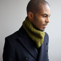 Mens scarf, knit cowl for men