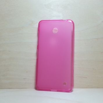 For Nokia Lumia 630 / 635 Pink Soft TPU translucent Color Case Protective Silicone Back Case Cover