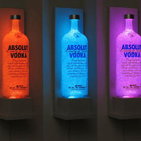 Absolut Vodka Wall Mount Color Changing LED Remote Controlled Eco Friendly LED