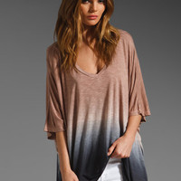 Young, Fabulous & Broke Chloe Top in Coffee/Black Color Block from REVOLVEclothing.com