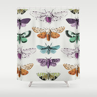 Techno-Moth Collection Shower Curtain by Zeke Tucker