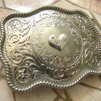 Bride Silver Belt Buckle, Future Mrs, Bridal Shower Gift, Bride To Be Western Country Wedding Gift, Custom Womens Belt Buckle