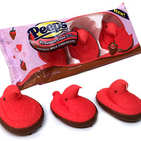 MILK CHOCOLATE DIPPED STRAWBERRY PEEPS CHICKS