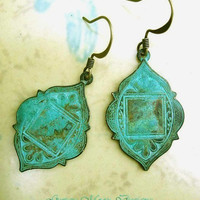 Bohemian earrings Moroccan Ethnic earrings patina dangle earrings boho Bohemian Jewelry  Magazine Featured