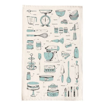 Baking Delight Teal Tea Towel