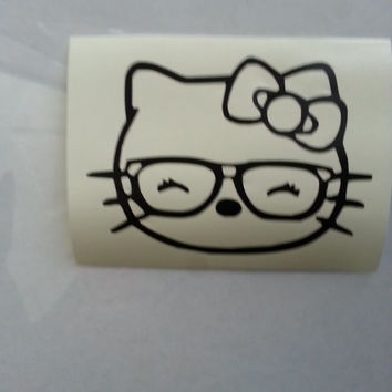 Hello Kitty Inspired Phone Laptop Tablet Car Window Vinyl Decal