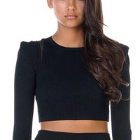 Stella And Jamie Yves Cropped Top Small Nwt Black $198 Stunning Sexy!