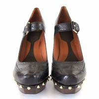 Mcq Alexander Mcqueen Studded Mary Jane Pumps Size 41 New Box Dust Bag