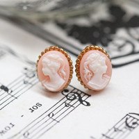 my fair lady cameo earrings - $10.99 : ShopRuche.com, Vintage Inspired Clothing, Affordable Clothes, Eco friendly Fashion