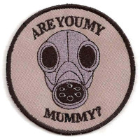 Doctor Who Are You My Mummy Gas Mask Patch