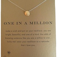 Dogeared One In A Million Sand Dollar Gold Dipped Necklace