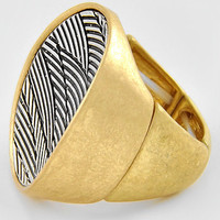Woven Ring in Silver and Gold