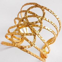 Infinity Knot Cuff in Goldtone