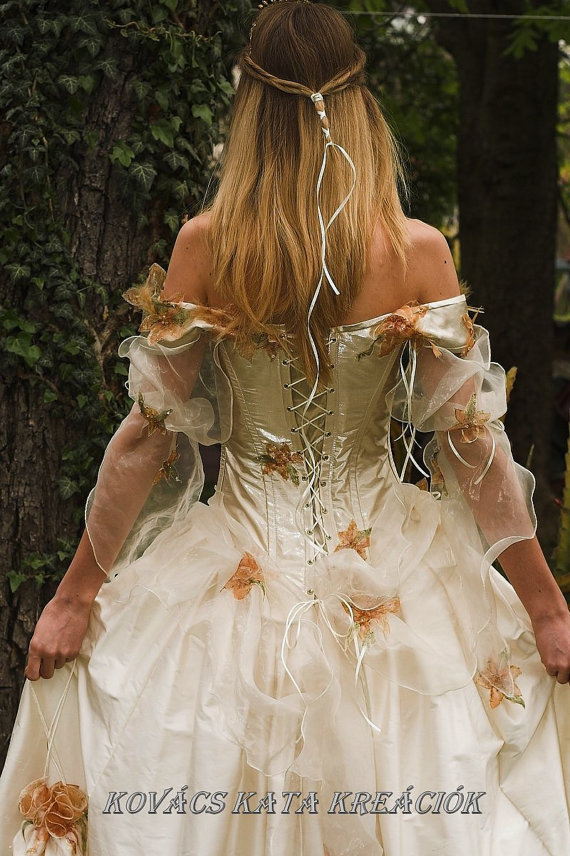 Rococo inspired fairy princess corseted from katakovacs on for Fairytale ball gown wedding dresses