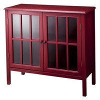 Windham Accent Storage Bookcase Cabinet - Red