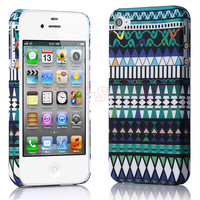 New Stylish Aztec Tribal Pattern Retro Vintage Hard Case Cover for iPhone 4 G 4S